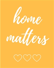 Home Matters Planner Notebook - Six Month Undated Home Organizer - Yellow cover image