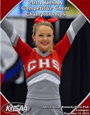2014 KHSAA Competitive Cheer Championship Program cover image