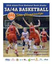 2018 ASAA/First National Bank Alaska 3A/4A Basketball State Championship Program cover image