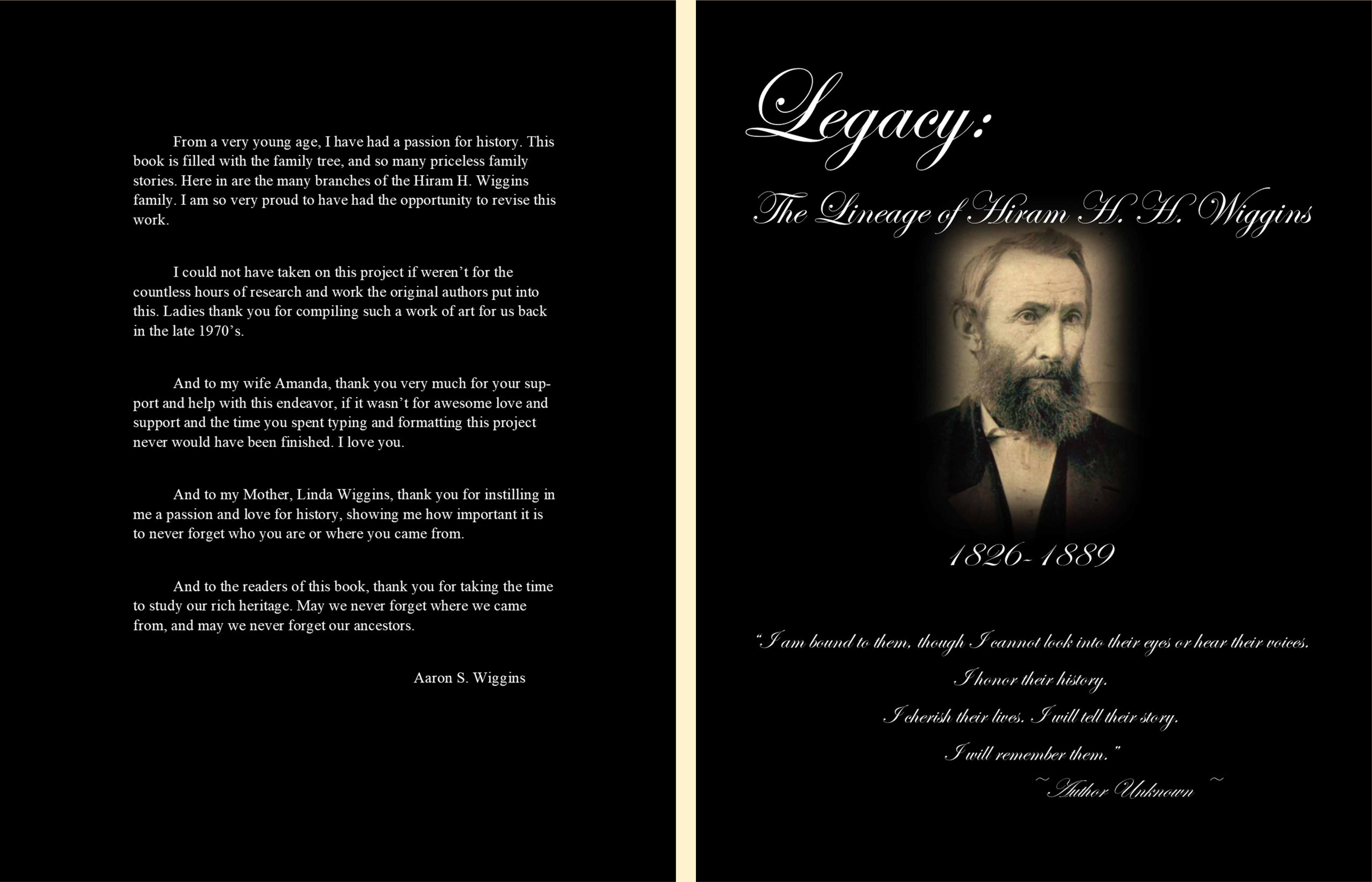 Legacy: The Lineage of Hiram H. H. Wiggins cover image