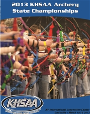 2013 KHSAA Archery State Championship Program cover image