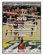 2018 ASAA/First National Bank Alaska 3A/4A Volleyball State Championships Program cover image