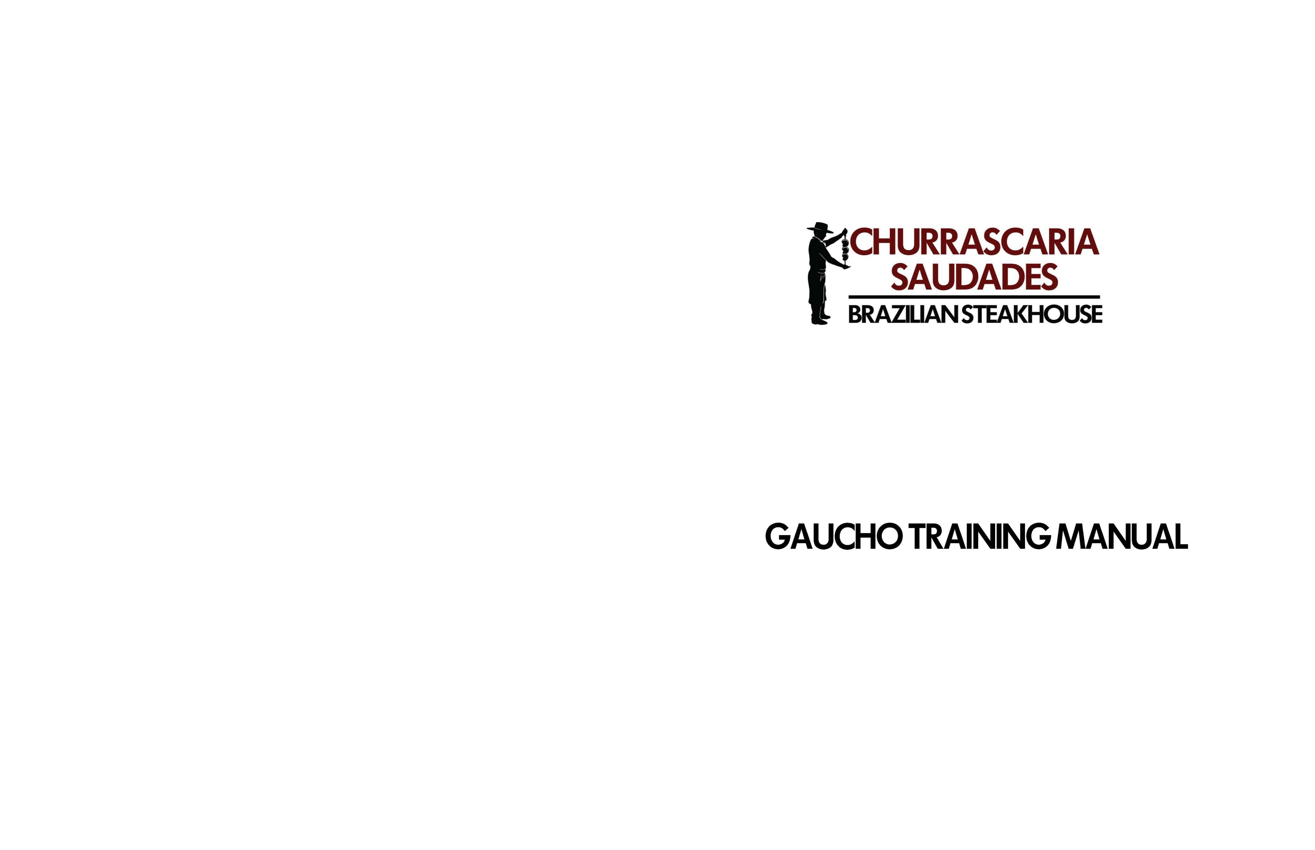 GAUCHO TRAINING MANUAL cover image