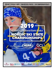 2019 ASAA/First National Bank Alaska Nordic Ski State Championship Program cover image