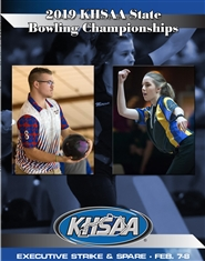 2019 KHSAA Bowling State Championship Program cover image