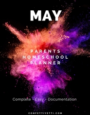 May HomeSchool Parents Planner cover image