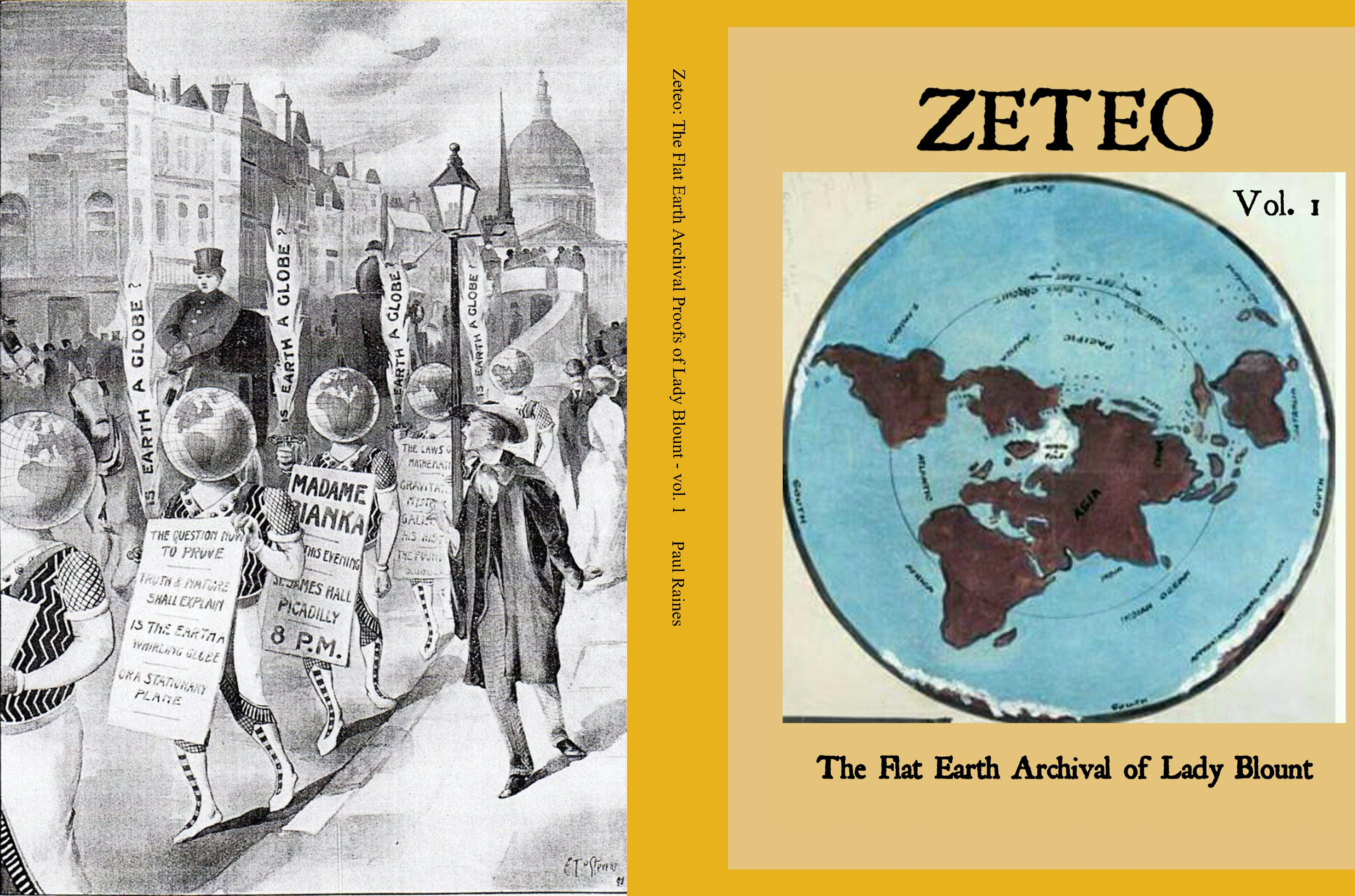 Zeteo: The Flat Earth Archival Proofs of Lady Blount - vol. 1 cover image