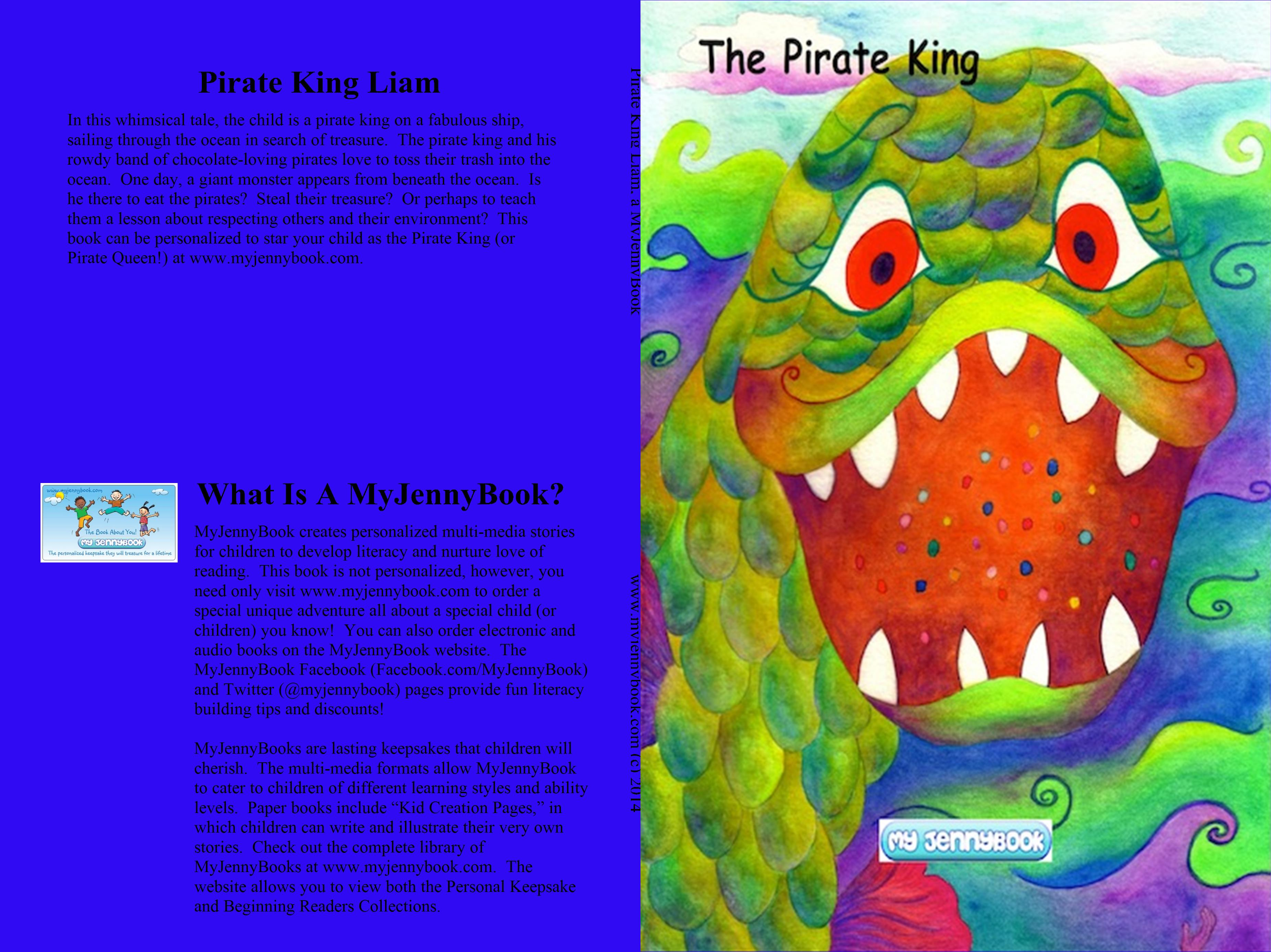 Pirate King Liam, a MyJennyBook cover image