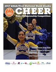 2017 ASAA/First National Bank Alaska Cheer State Championship Program cover image