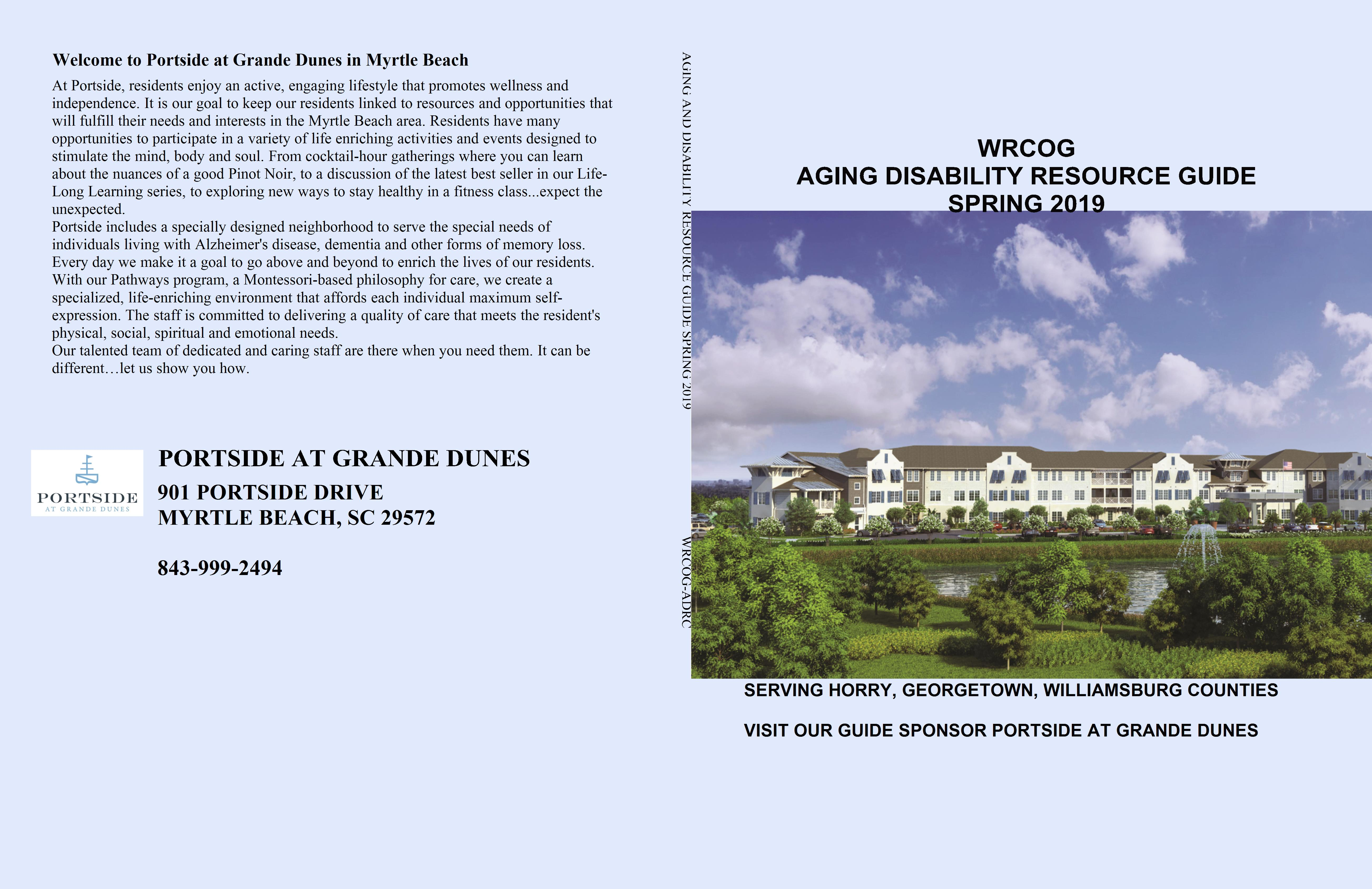 AGING AND DISABILITY RESOURCE GUIDE SPRING 2019 cover image