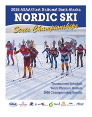 2018 ASAA/First National Bank Alaska Nordic Ski State Championship Program cover image