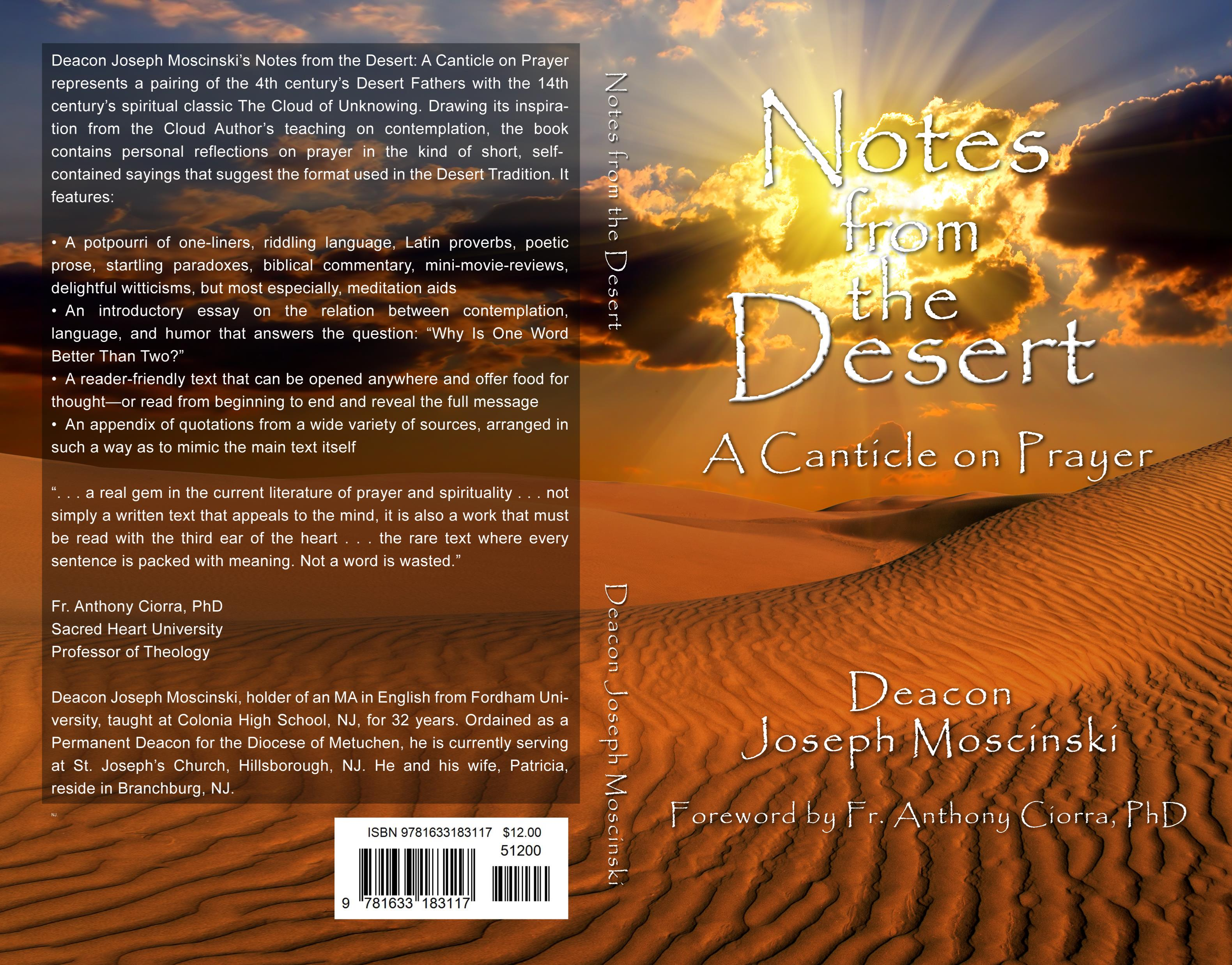notes from the desert a canticle on prayer by joseph moscinski notes from the desert a canticle on prayer cover image