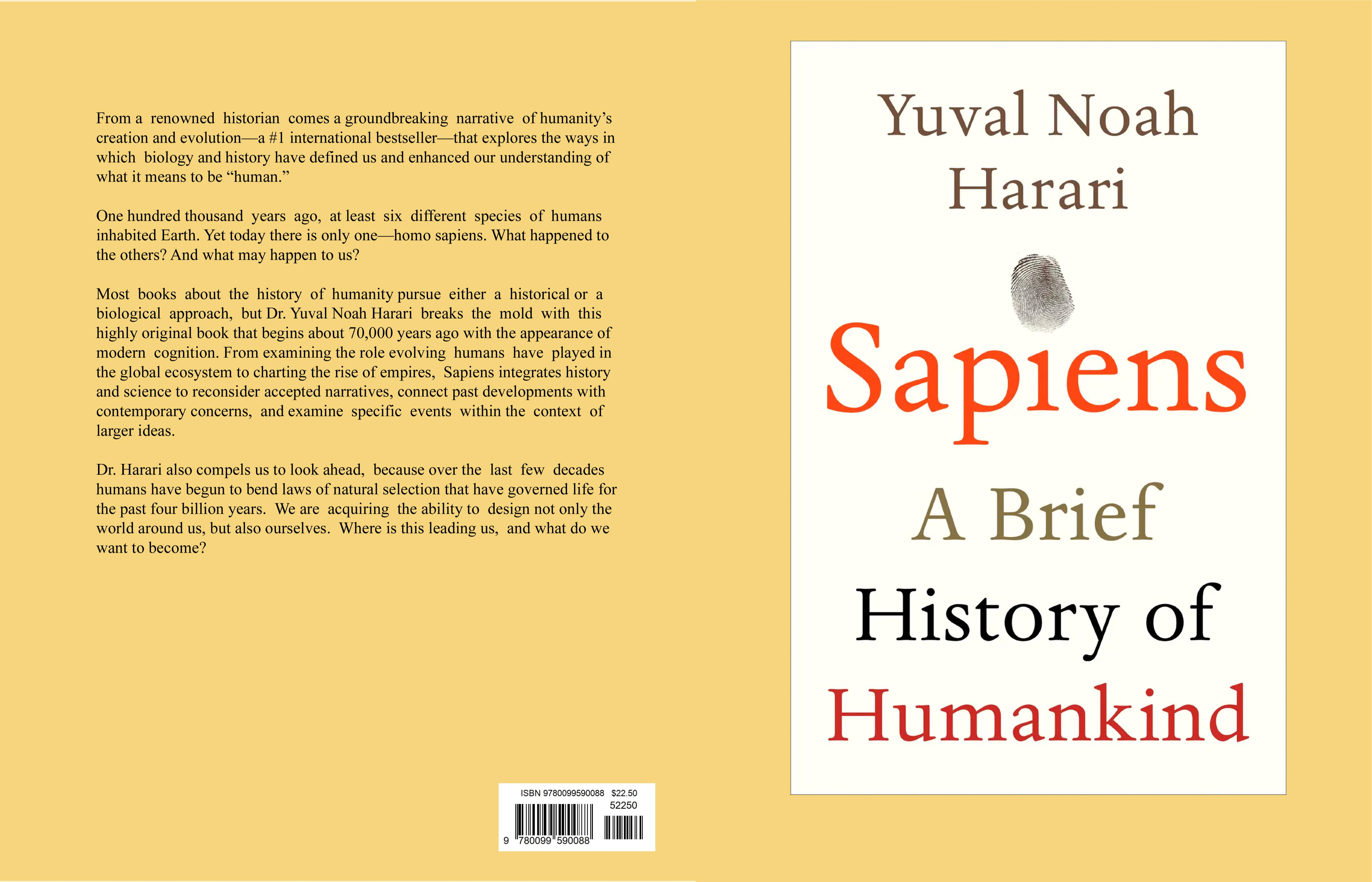 Sapiens A Brief History of Humankind cover image