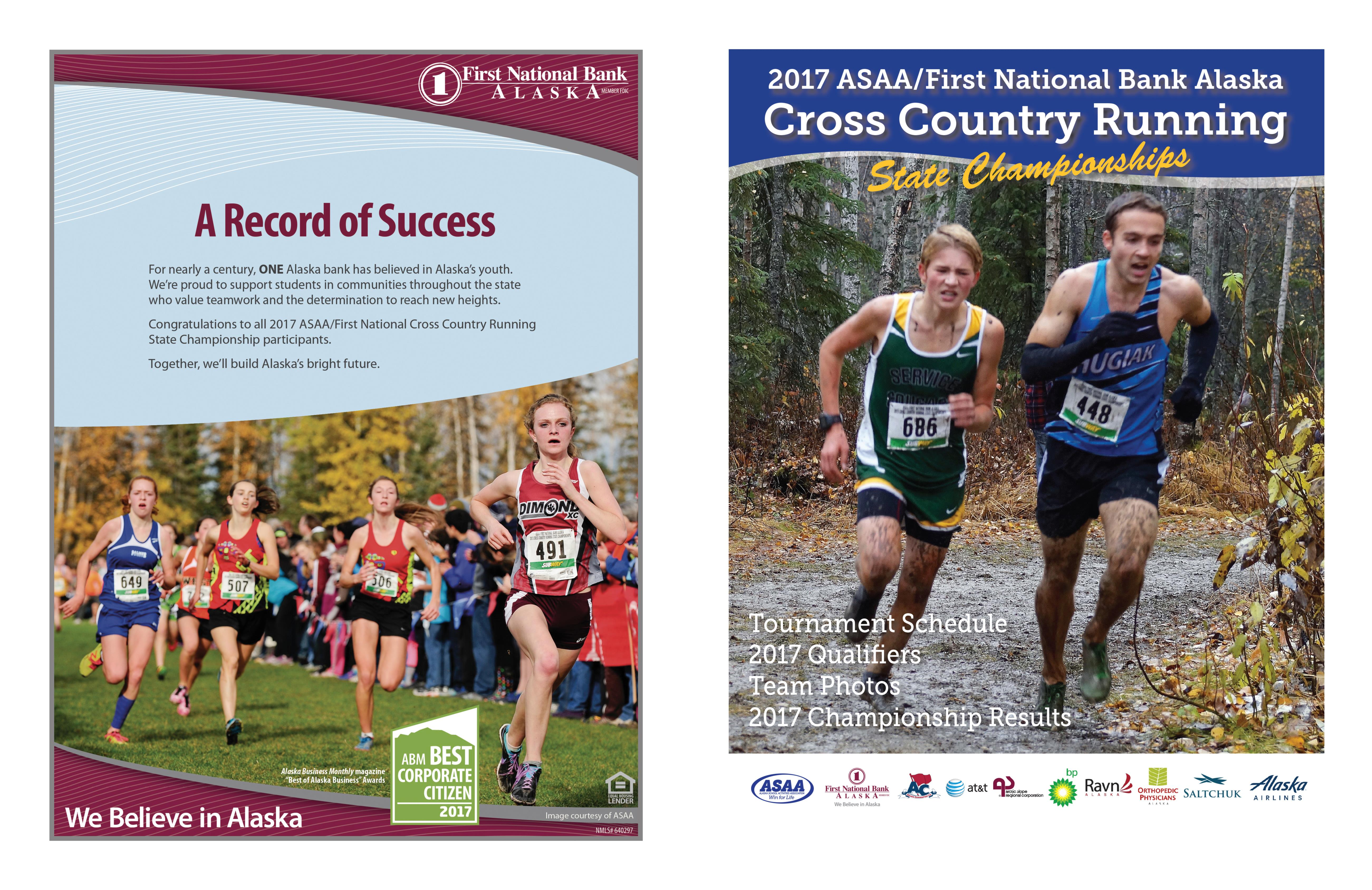 2017 ASAA/First National Bank Alaska Cross Country Running State Championship Program cover image