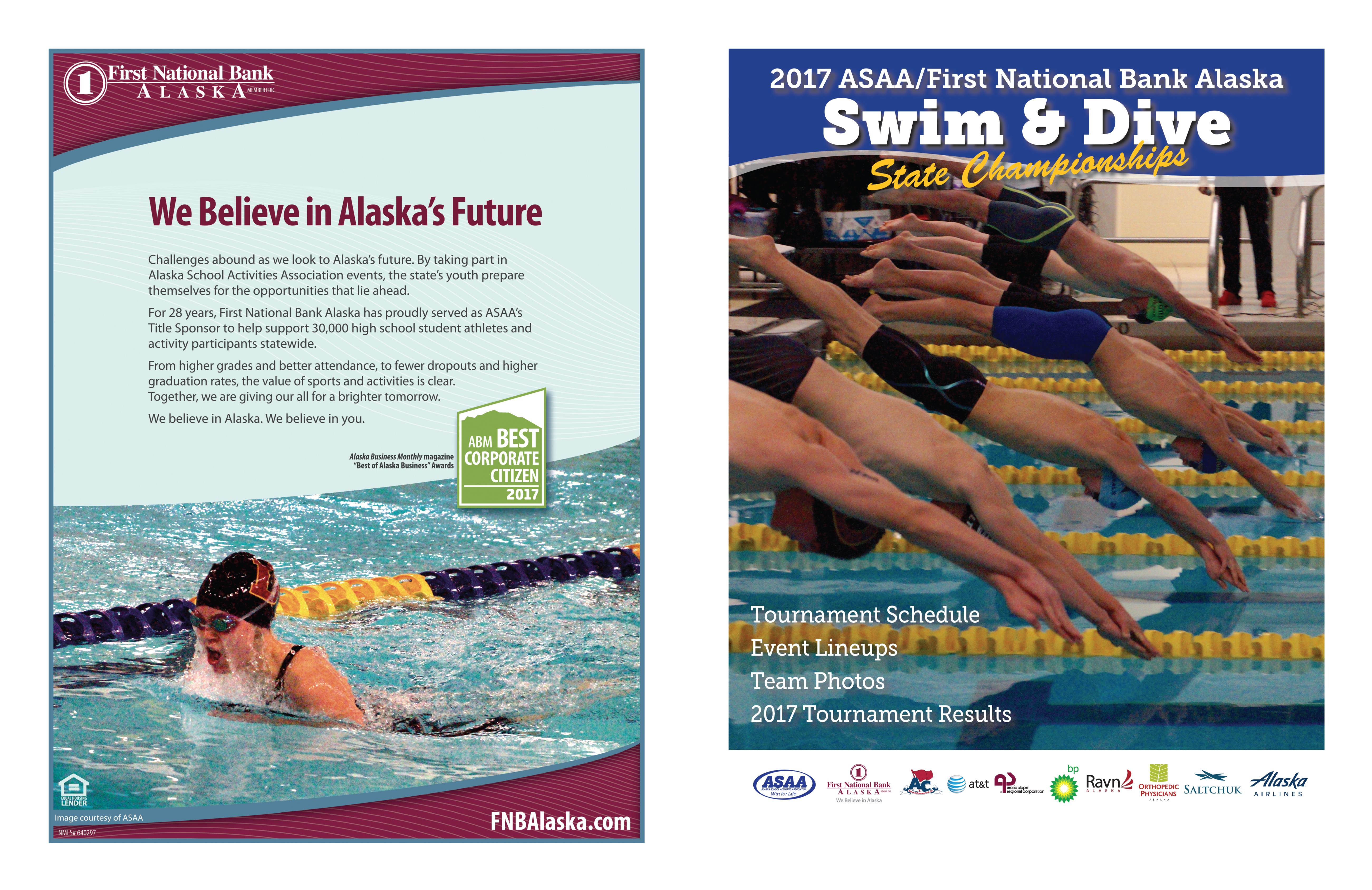 2017 ASAA/First National Bank Alaska Swim & Dive State Championship Program cover image