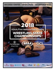 2018 ASAA/First National Bank Alaska Wrestling State Championship Program cover image