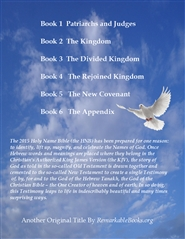 The 2015 Holy Name Bible Book 6 - Appendix cover image