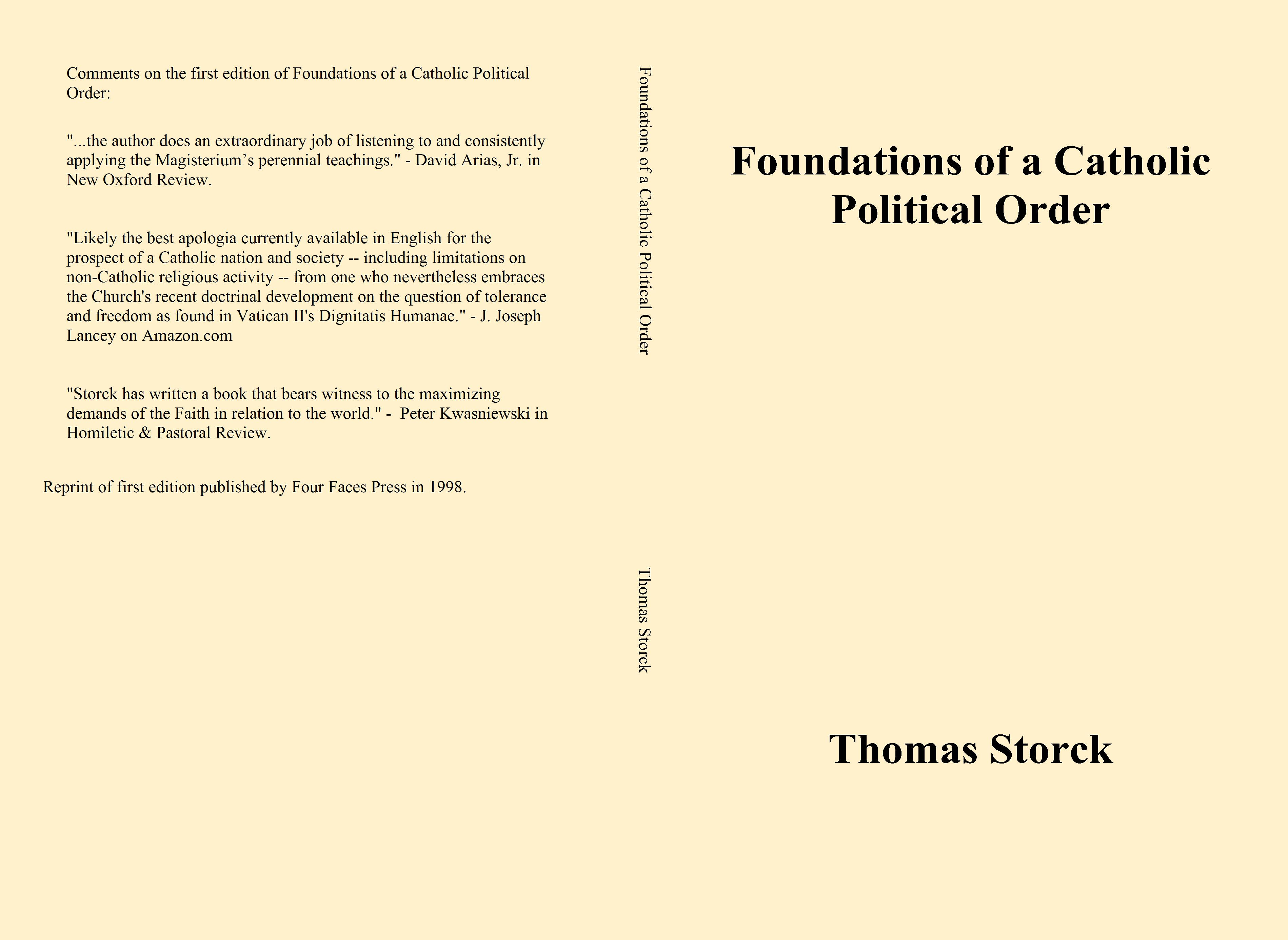 Foundations of a Catholic Political Order cover image
