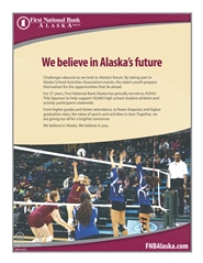 2016 ASAA/First National Bank Alaska 3A/4A Volleyball State Championships Program cover image