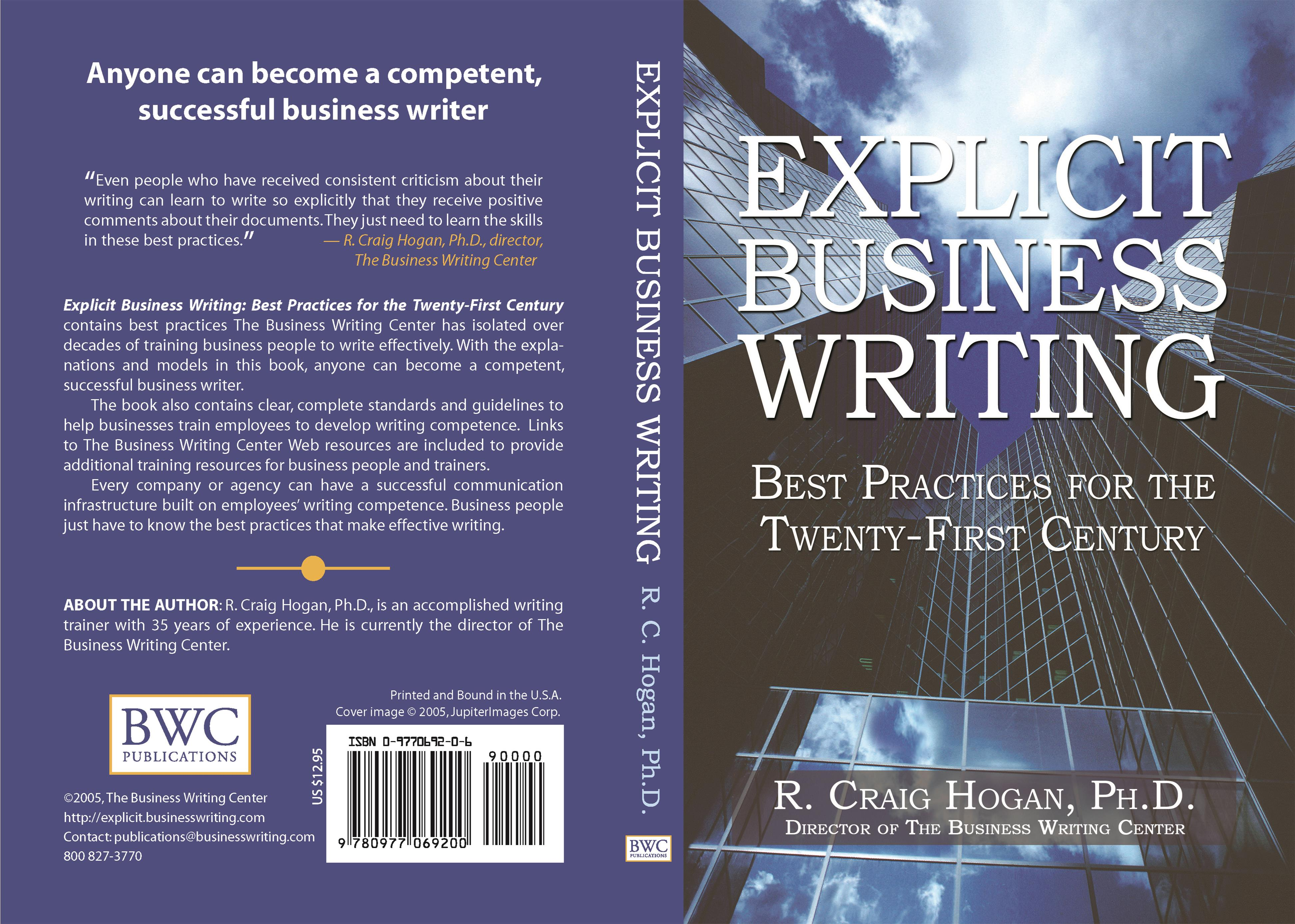 Explicit Business Writing By Craig Hogan    TheBookPatchcom ccb eb d A Ddcfffa C ccb eb d A Ddcfffa