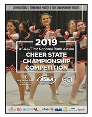 2019 ASAA/First National Bank Alaska Cheer State Championship Program cover image