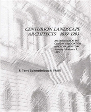 Centurion Landscape Architects 1859-1993: CENTURY ASSOCIATION EXHIBITION, NEW YORK, January 18-March 3, 1993 cover image