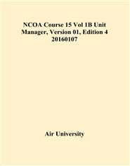 NCOA Course 15 Vol 1B Unit Manager, Version 01, Edition 4 20160107 cover image