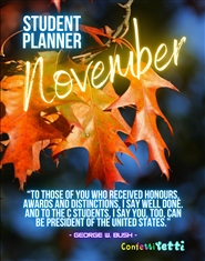 November 2020 Student HomeSchool Planner cover image