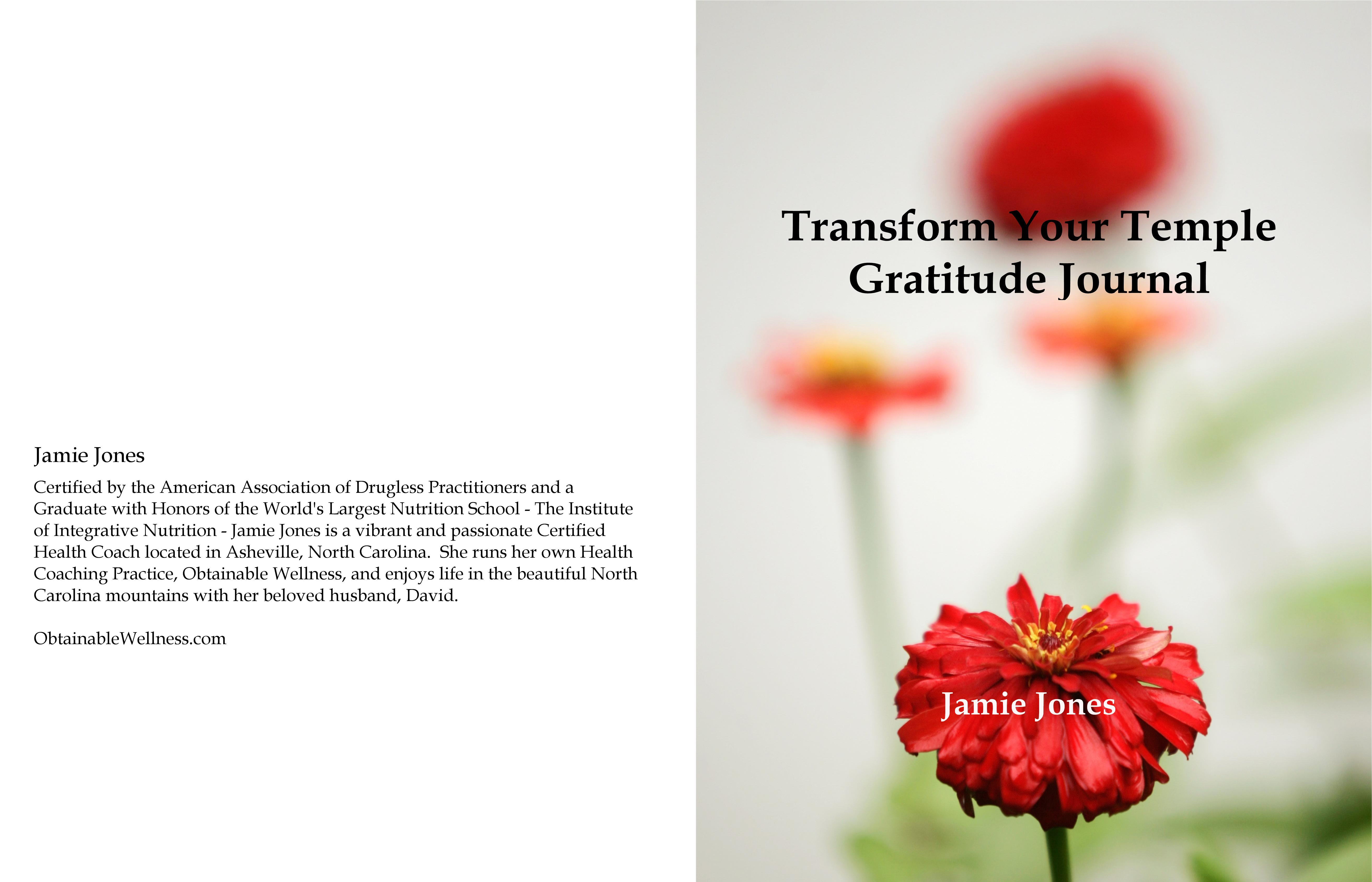 Transform Your Temple Gratitude Journal cover image