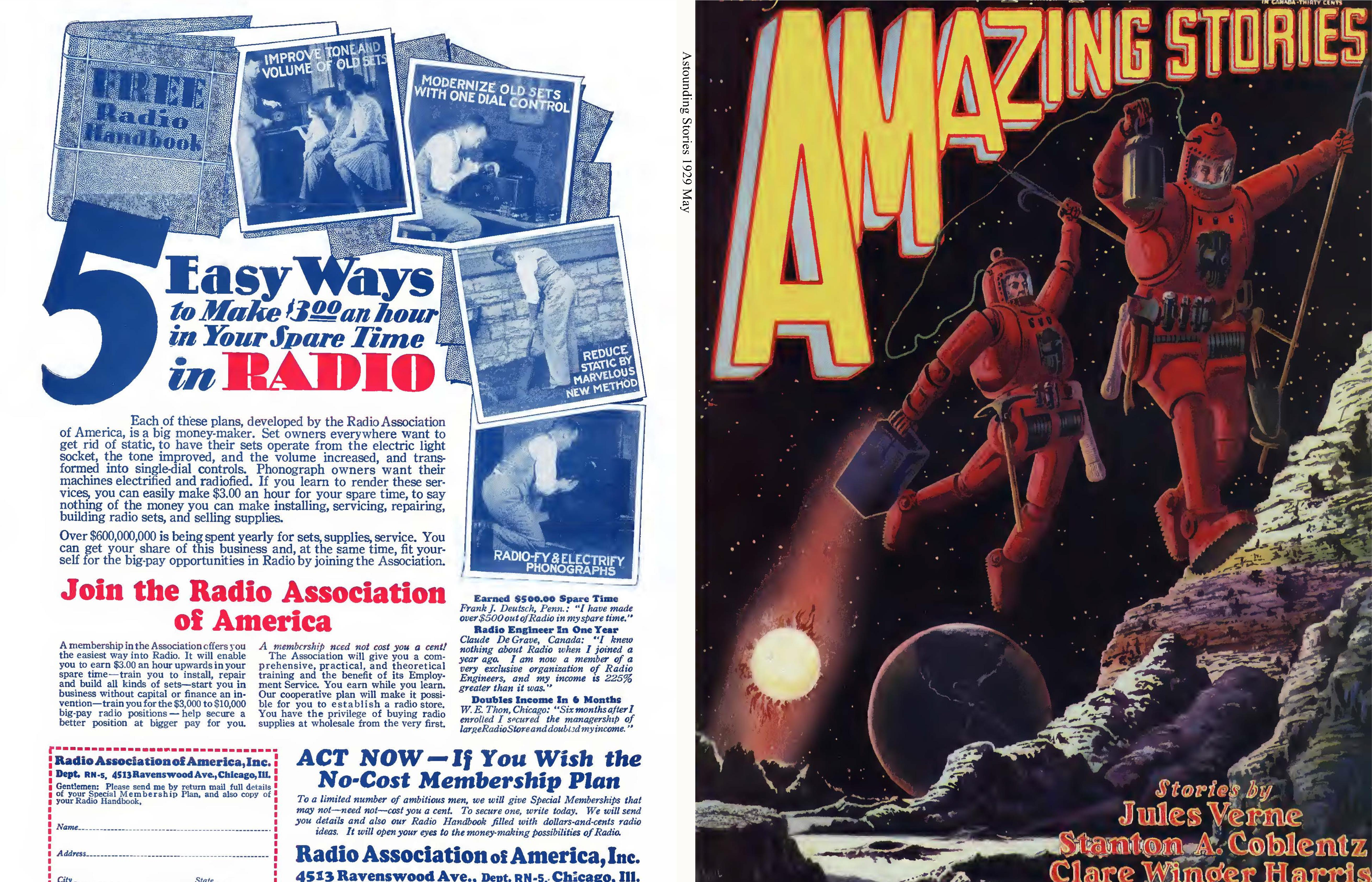 Amazing Stories 1929 May cover image