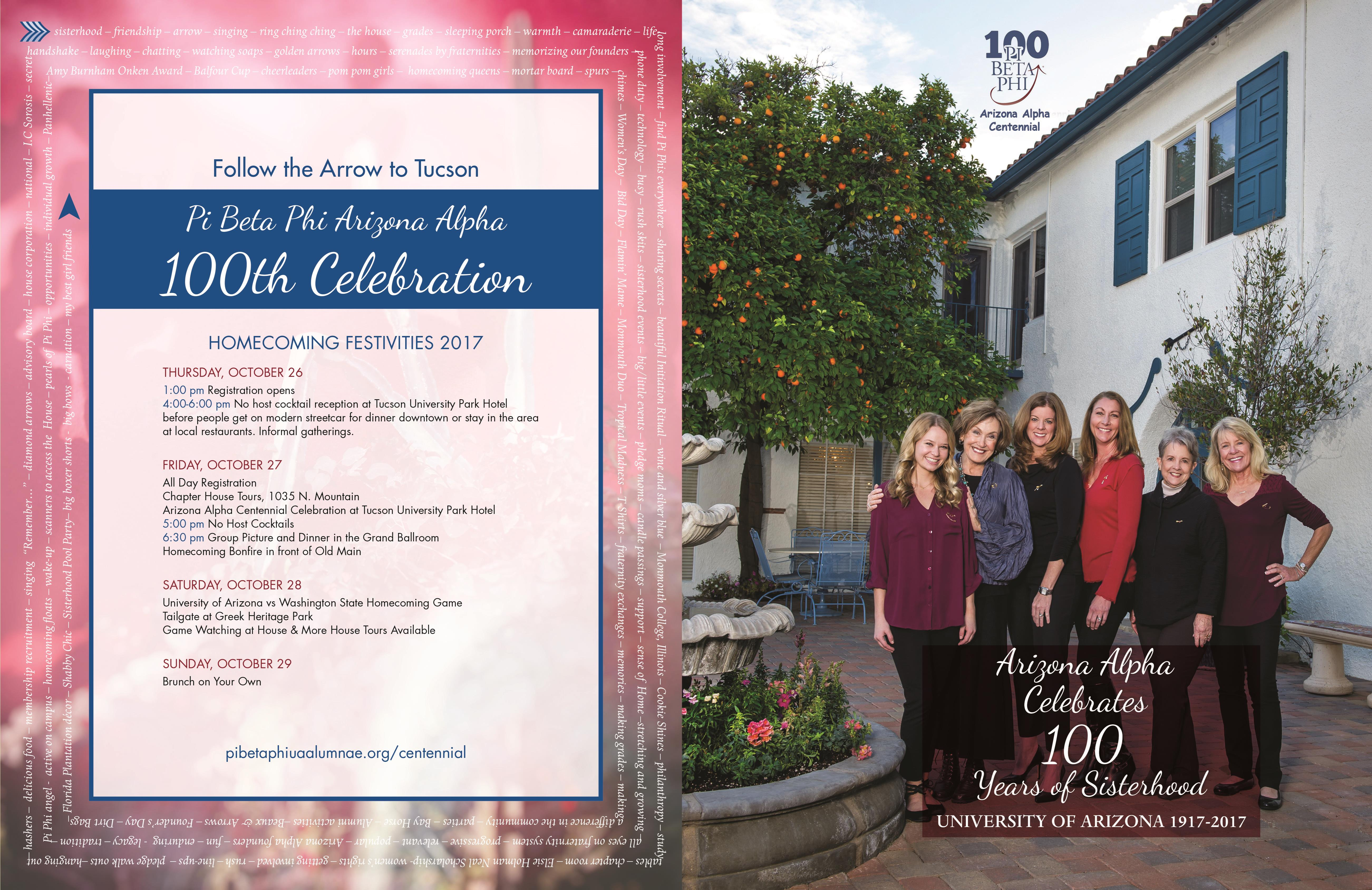 Pi Beta Phi: Arizona Alpha Celebrates 100 Years of Sisterhood cover image