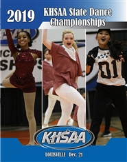 2019 KHSAA Dance State Championship Program (B&W) cover image