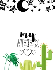 My Week Planner Notebook for Kids - Cactus cover image