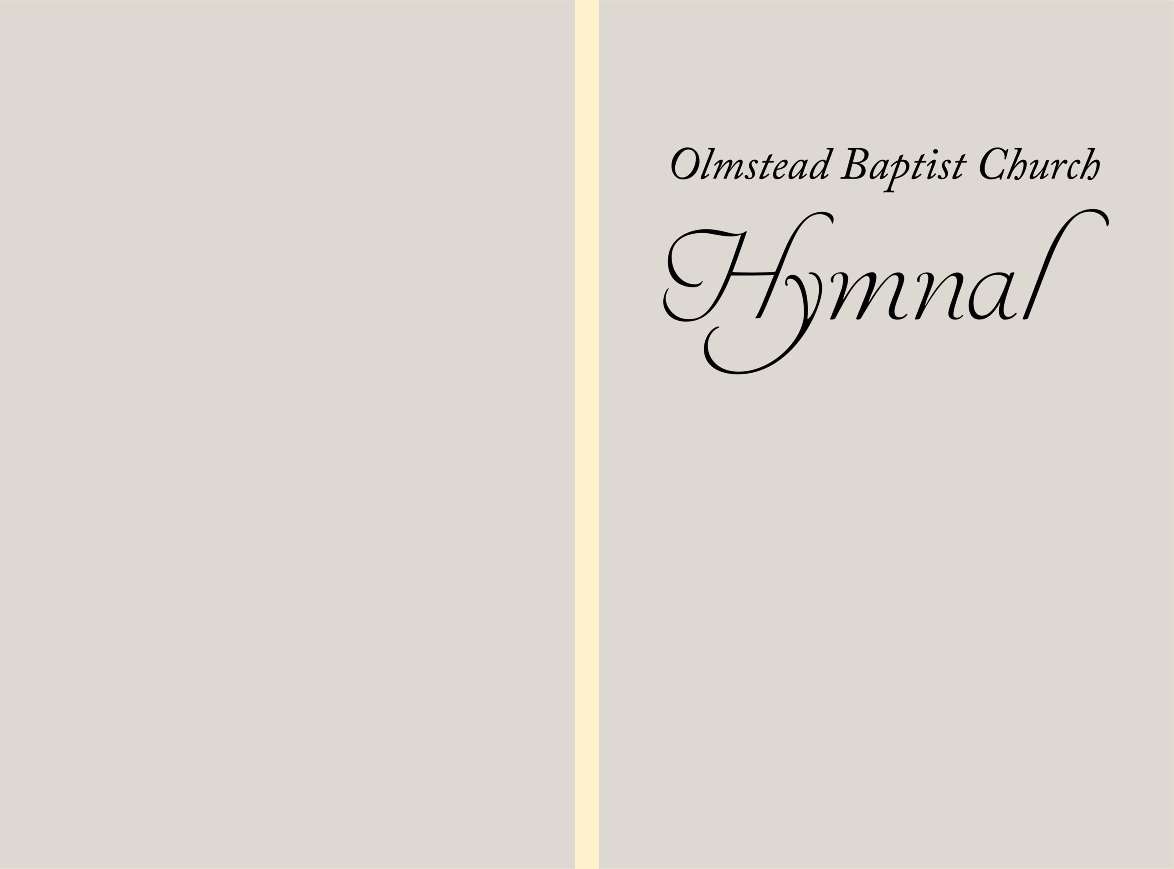 Olmstead Baptist Church Hymnal cover image