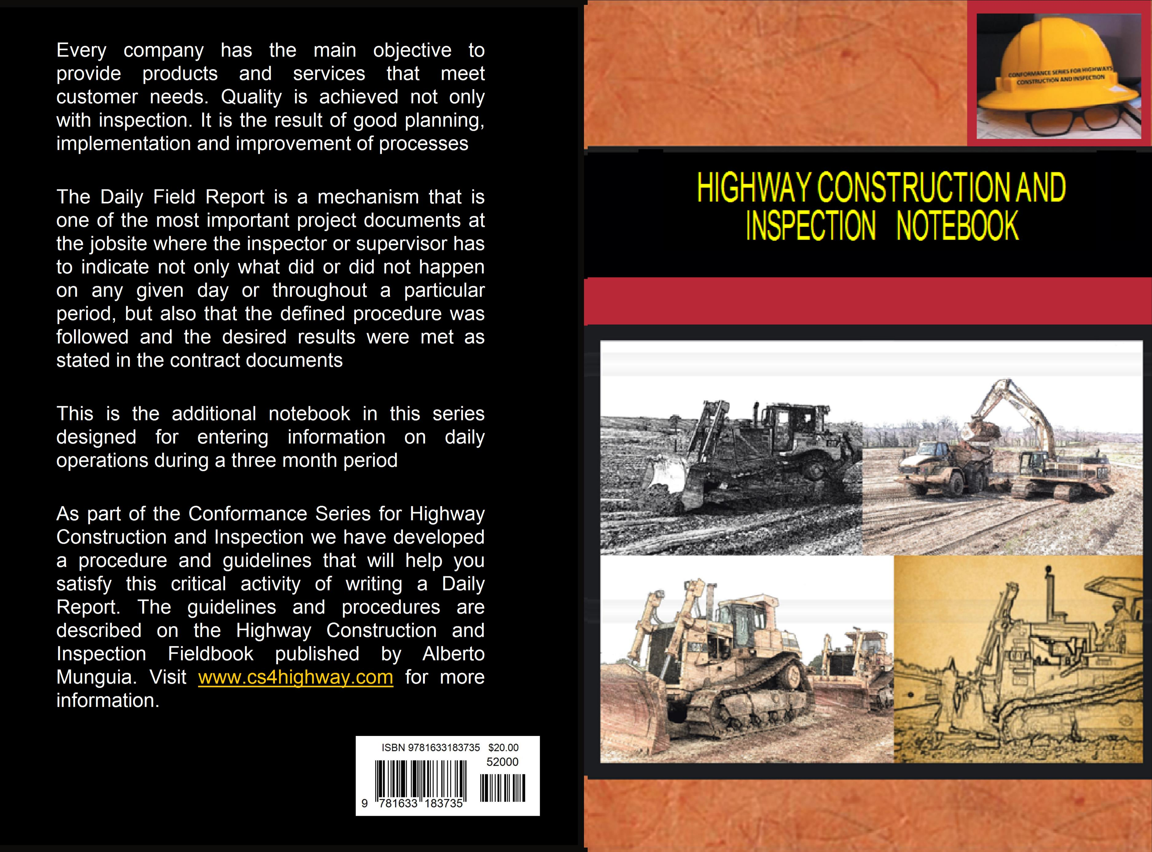 Highway Construction and Inspection Notebook cover image