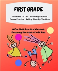 First Grade Math Workbook cover image