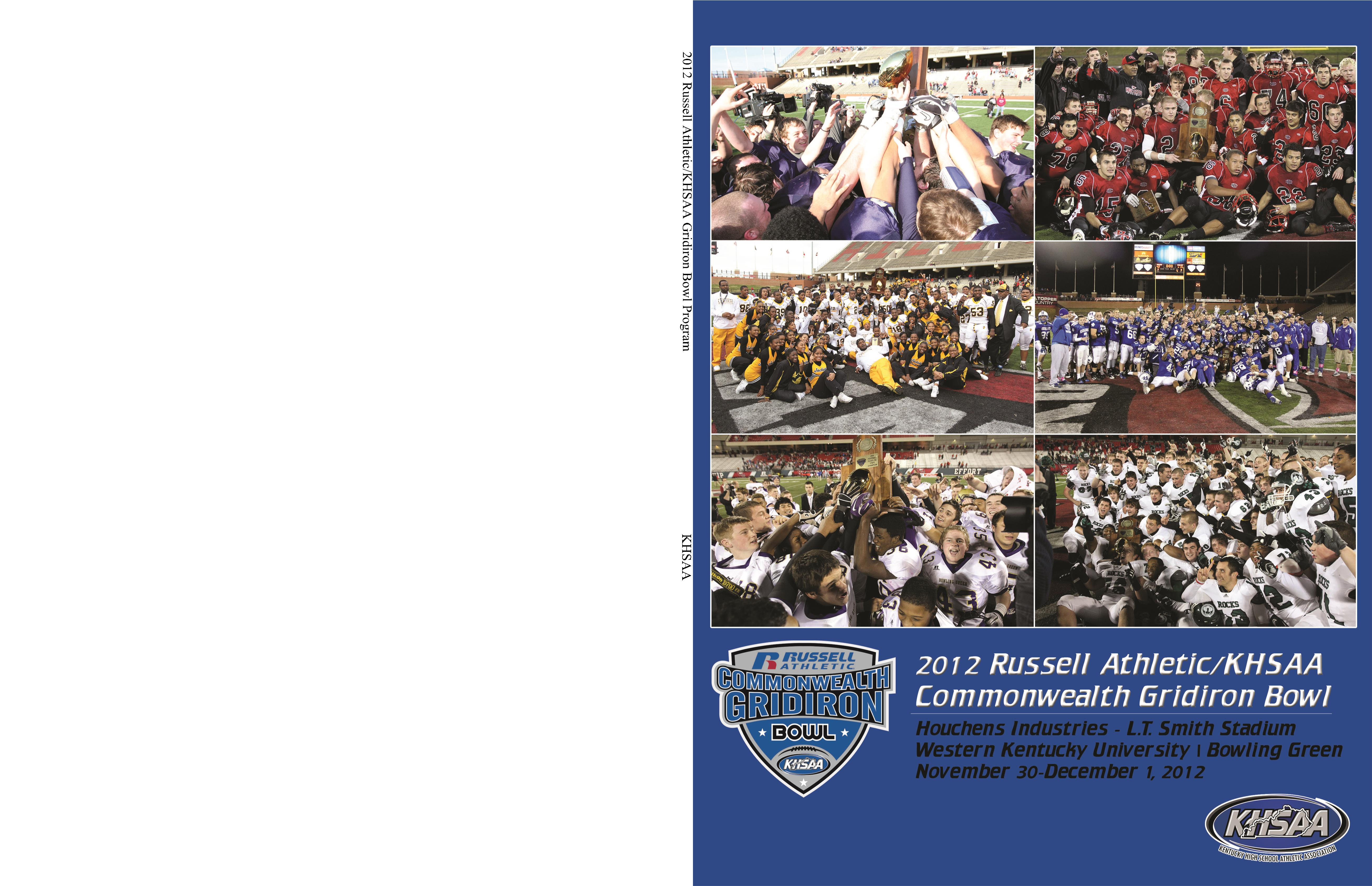 2012 Russell Athletic/KHSAA Gridiron Bowl Program cover image