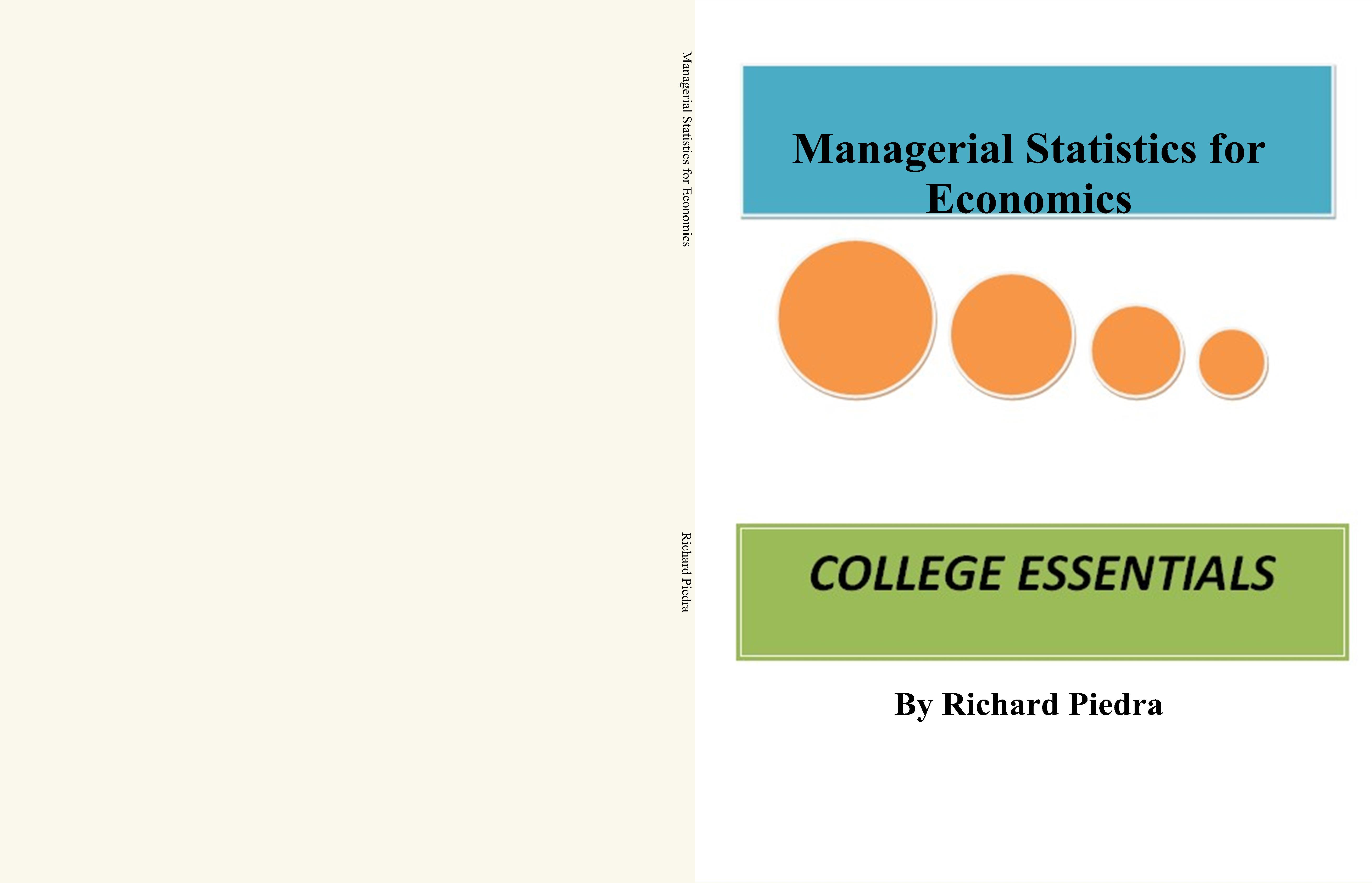 Managerial Statistics for Economics cover image