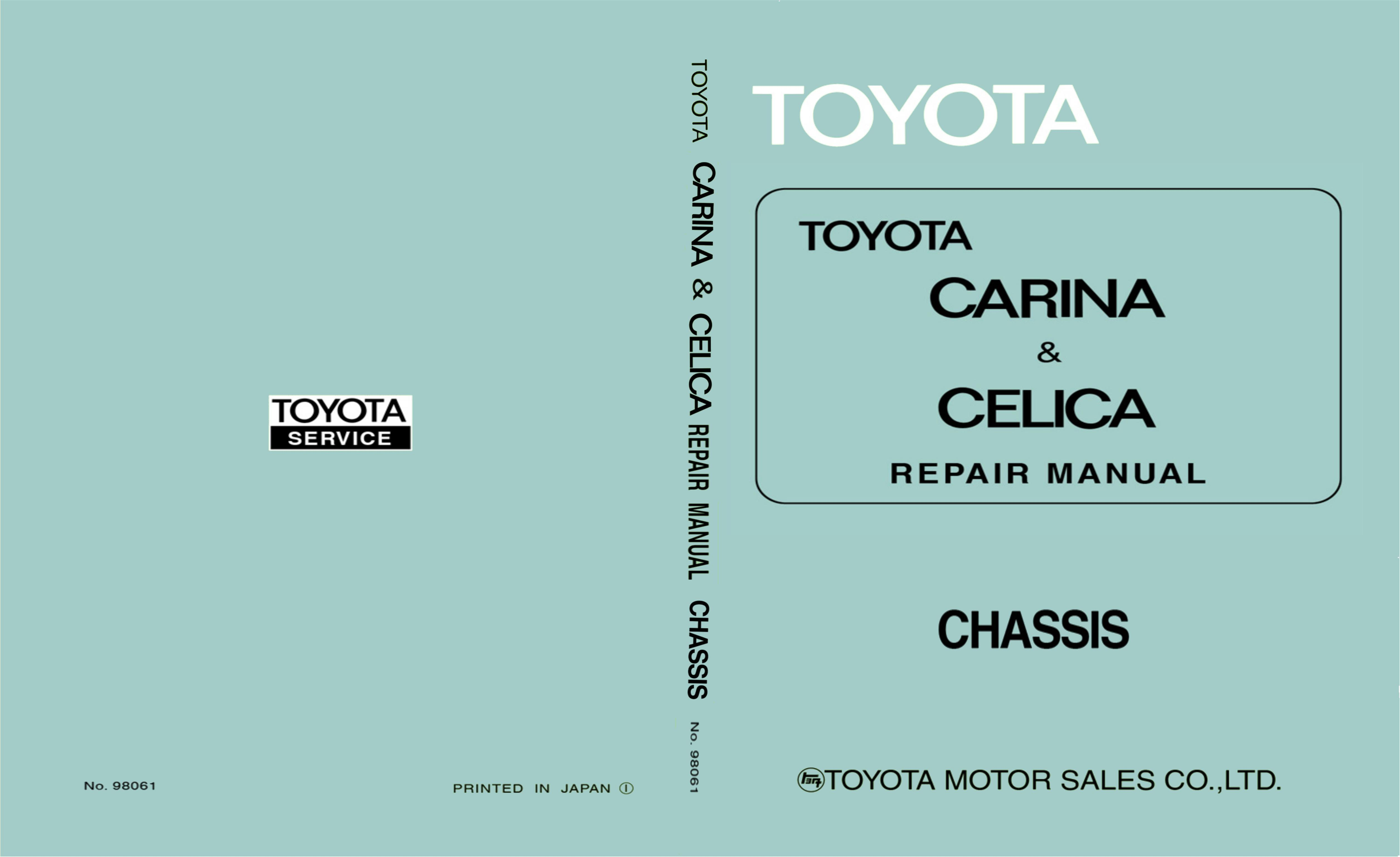 1971 Toyota Celica Carina Chassis Manual cover image