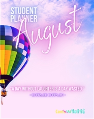 August 2020 Student HomeSchool Planner cover image