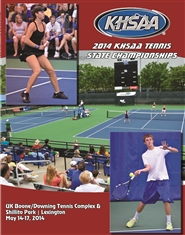 2014 KHSAA Tennis State Championship Program cover image