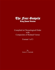 The Four Gospels in Chronological Order Format 1 of 3 cover image