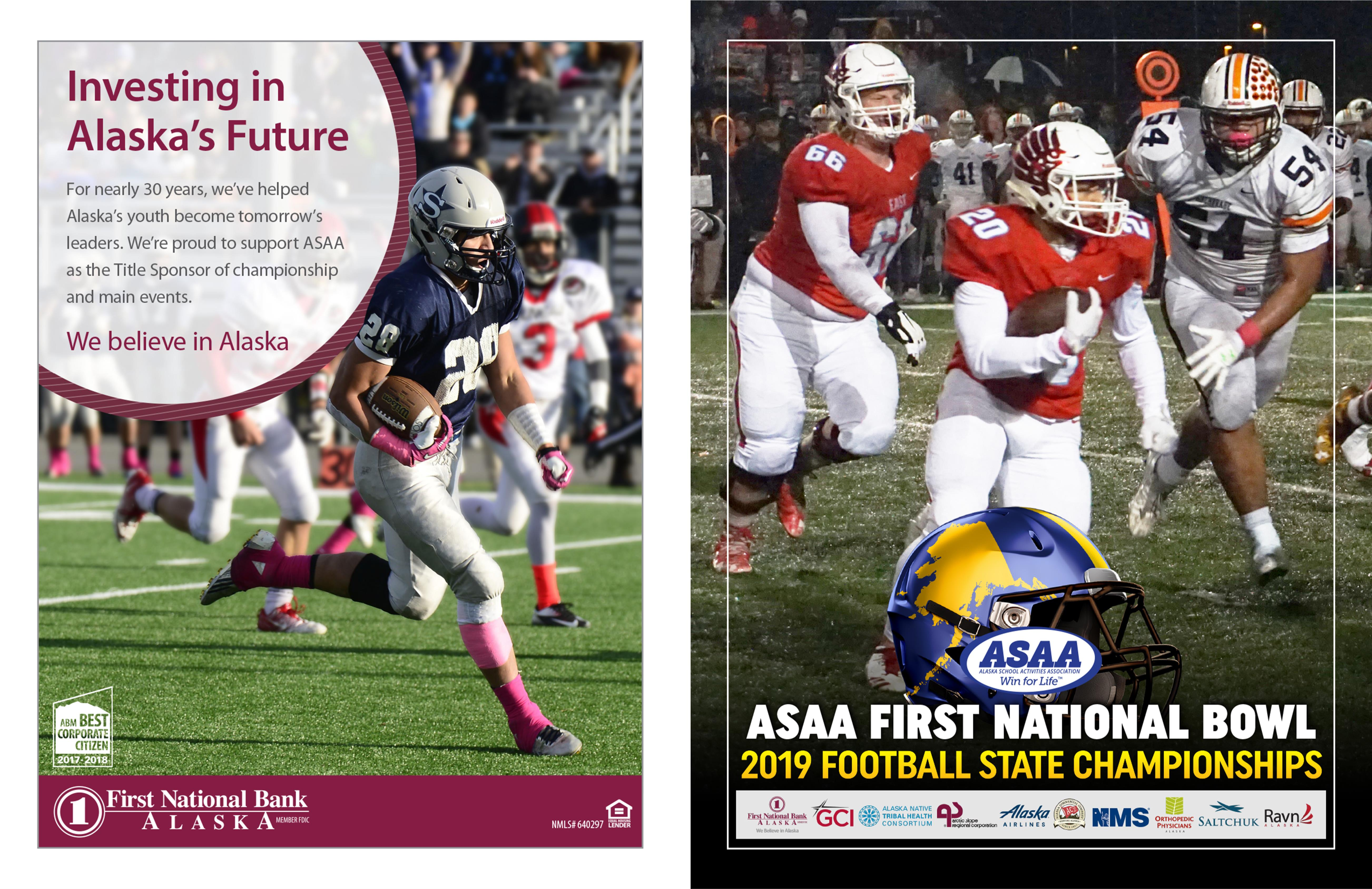 2019 ASAA/First National Bowl Series Football State Championships Program cover image