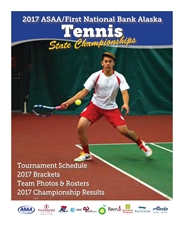 2017 ASAA/First National Bank Alaska Tennis State Championship Program cover image