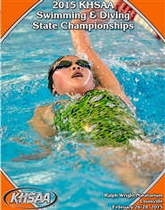 2015 KHSAA Swimming & Diving Championship Program (B&W) cover image