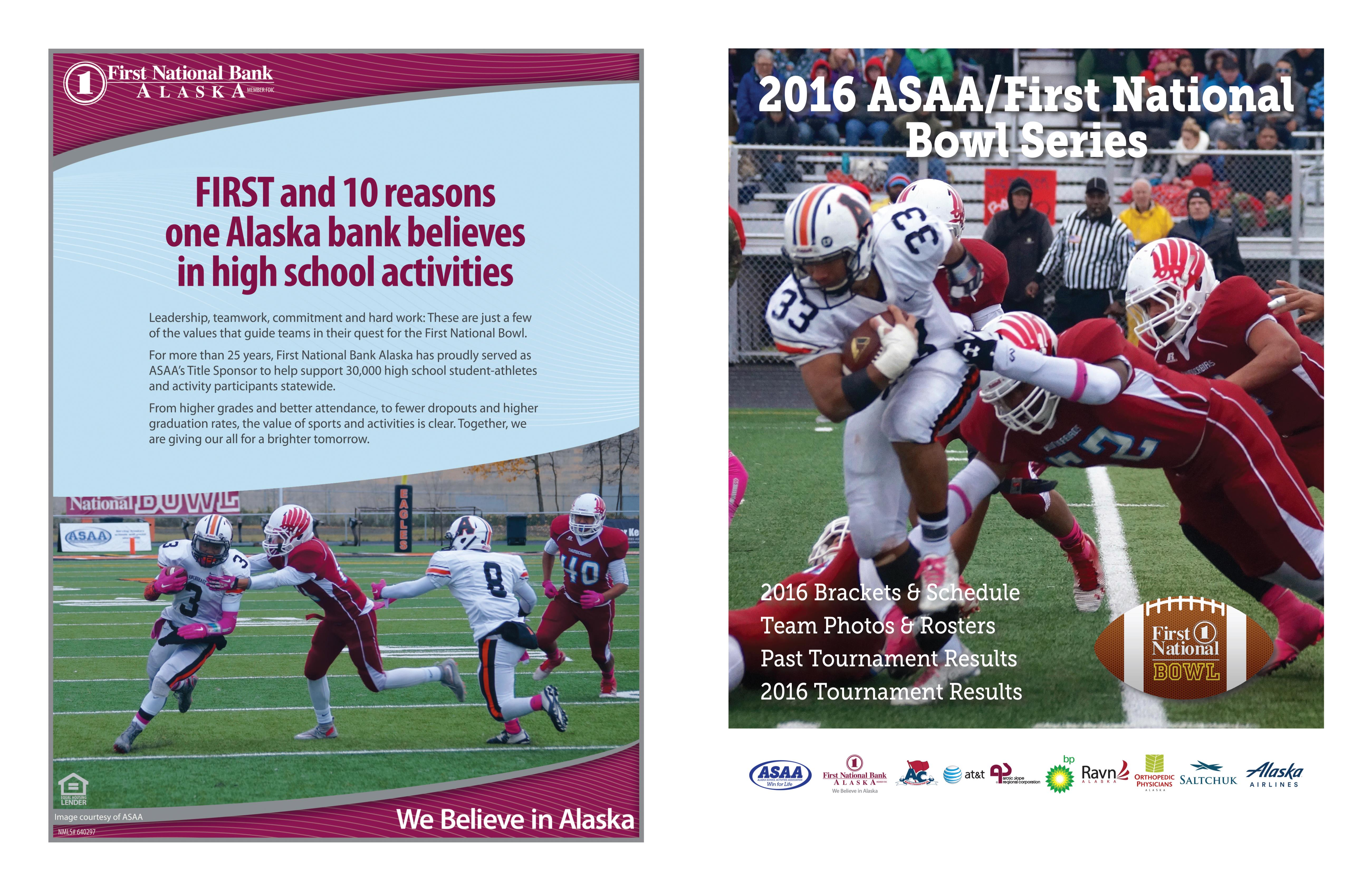 2016 ASAA/First National Bowl Series Football State Championships Program cover image