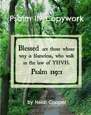 Psalm 119 Copywork cover image