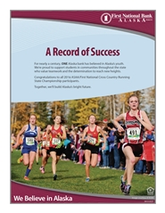 2016 ASAA/First National Bank Alaska Cross Country Running State Championships Program cover image