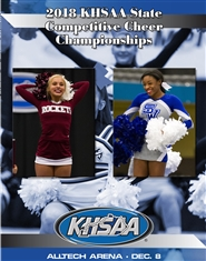 2018 KHSAA Competitive Cheer Championship Program cover image