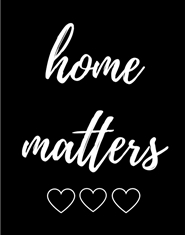 Home Matters Planner Notebook - Six Month Undated Home Organizer - Black cover image